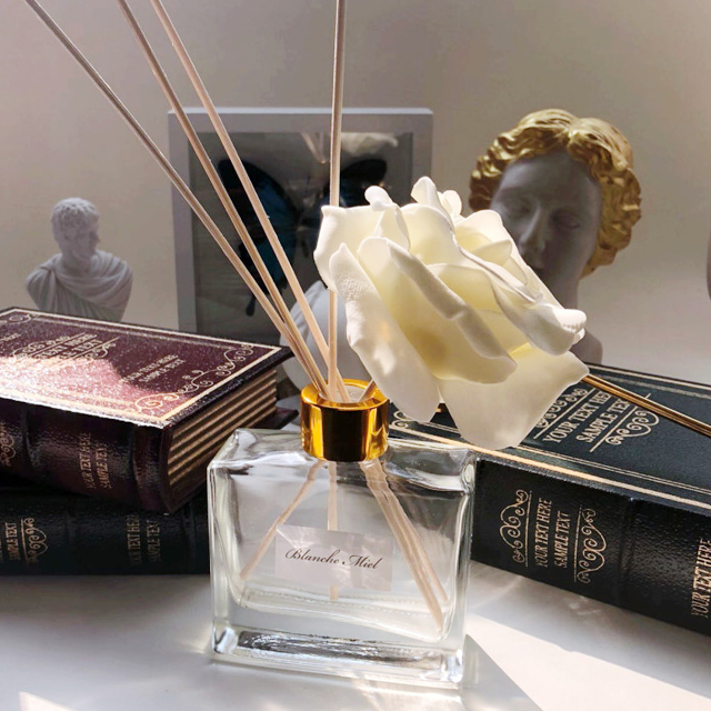 gold big flower square diffuser 115ml